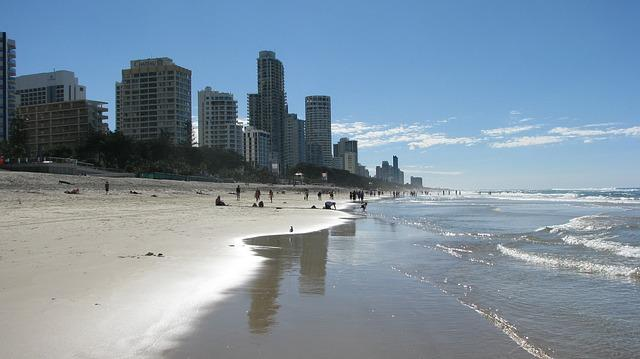 Visum Australien Brisbane beach